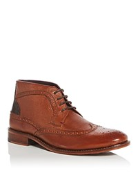 Ted Baker Pericop Brogue Wingtip Chukka Boots Tan Dark Brown