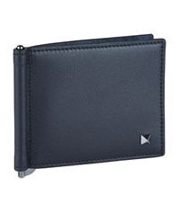 Valentino Stud Leather Wallet Unisex Navy