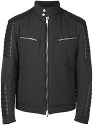 Hugo Boss Zipped Biker Jacket Black