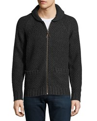 Ag Adriano Goldschmied Long Sleeve Front Zip Wool Blend Cardigan Ccl