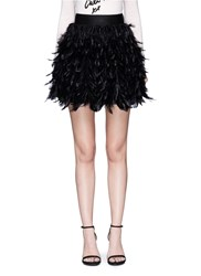 Alice Olivia 'Cina' Feather Flare Mini Skirt Black