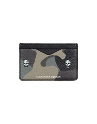 Alexander Mcqueen Document Holders Military Green