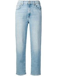 7 For All Mankind Tapered Jeans Blue