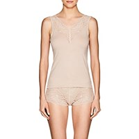 Zimmerli Poetic Botanicals Lace Trimmed Camisole Pink