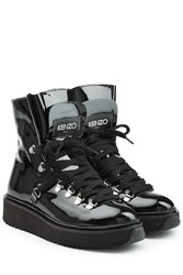 Kenzo Patent Leather Boots Black