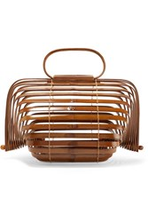 Cult Gaia Lilleth Small Collapsible Bamboo Tote Brown