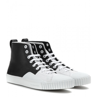 Balenciaga Leather High Top Sneakers Blanc Noir