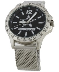 Game Time Dallas Cowboys Cage Series Watch Silver Black