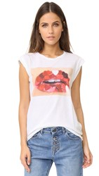 Pam And Gela Heart Mouth Frankie Tee White