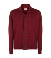 John Smedley Shawl Collar Cardigan Male Red