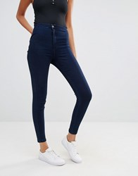 Missguided Vice High Waisted Skinny Jean Indigo Navy