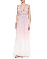 Loveshackfancy Braided Love Ombre Voile Maxi Dress