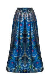 Temperley London Arazzi Maxi Skirt Blue
