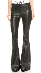 Blank Faux Leather Flare Pants Pussy Cat