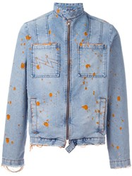 Walter Van Beirendonck Vintage Distressed Denim Jacket Blue