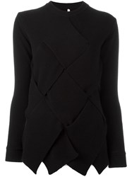 Miahatami Oversized Woven Detail Jumper Black
