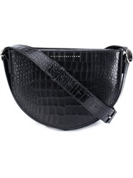 Victoria Beckham Crocodile Skin Effect Crossbody Bag Black