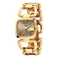 Gucci Ya125511 Women's I Square Gold Plated Bracelet Strap Watch Gold Brown