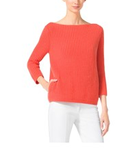 Michael Kors Shaker Stitch Cashmere Boatneck Sweater