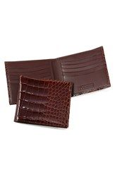 Men's Trafalgar Genuine Alligator Wallet Brown Chestnut