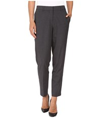 Kensie Heather Stretch Crepe Pants Ks8k1s78 Heather Dark Grey Women's Casual Pants Gray