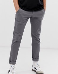 Esprit Slim Fit Chinos In Grey