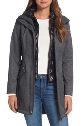Guess Women's Anorak With Detachable Hooded Vest Grey Melange