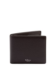 Mulberry Grained Leather Wallet Brown
