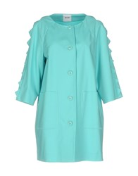 Moschino Cheap And Chic Overcoats Turquoise