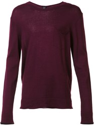 Osklen Long Sleeve Crew Neck Jumper Pink Purple