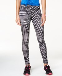 Energie Active Juniors' Jacey Printed Leggings Black