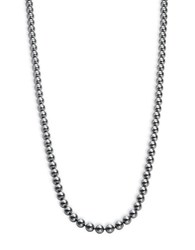 Nadri 8Mm Three Row Simulated Faux Pearl Necklace 30 In. Silver