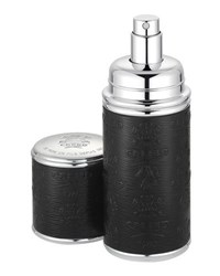Creed Aventus Filled Black With Silver Trim Leather Atomizer 50 Ml
