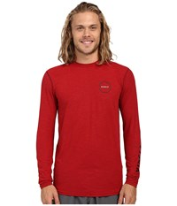 Vissla Alltime Long Sleeve Heathered Surf Tee Upf 50 Blood Heather Men's Long Sleeve Pullover Pink