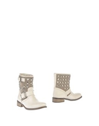 Scalini Ankle Boots Ivory