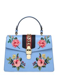 Gucci Medium Sylvie Floral Leather Bag