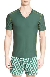 Men's Exofficio 'Give N Go Sport' Mesh V Neck T Shirt Petrol