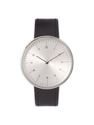 Mmt C 18S Stainless Steel And Leather Watch