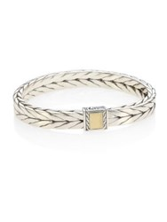 John Hardy Chain Sterling Silver And 18K Bonded Yellow Gold Bracelet