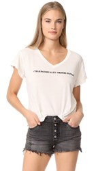 Wildfox Couture Telepath Romeo V Neck Tee Vintage Lace