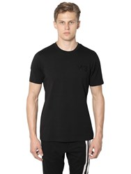 Y 3 Logo Classic Cotton Jersey T Shirt