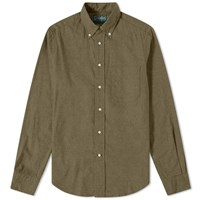 Gitman Brothers Vintage Button Down Classic Flannel Shirt Green