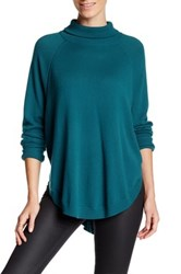 Magaschoni Cocoon Turtleneck Raglan Cashmere Sweater Green