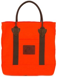 Junya Watanabe Comme Des Garcons Man Twill Canvas Trimmed Tote Yellow Orange