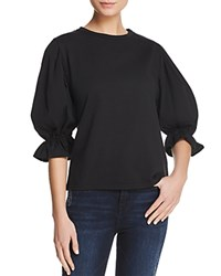 Michelle By Comune Floyd Puff Sleeve Tee Black