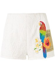 Versace Jeans Couture Graphic Print Shorts White