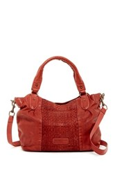Liebeskind Dominique Leather Woven Tote Red