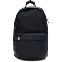 Visvim Navy Cordura And Leather 22L Backpack