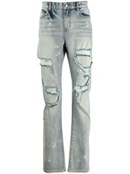 Haculla Distressed Slim Fit Jeans Blue