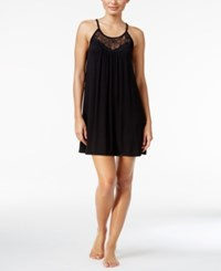 Alfani Lace Trimmed Scoop Neck Chemise Only At Macy's Black